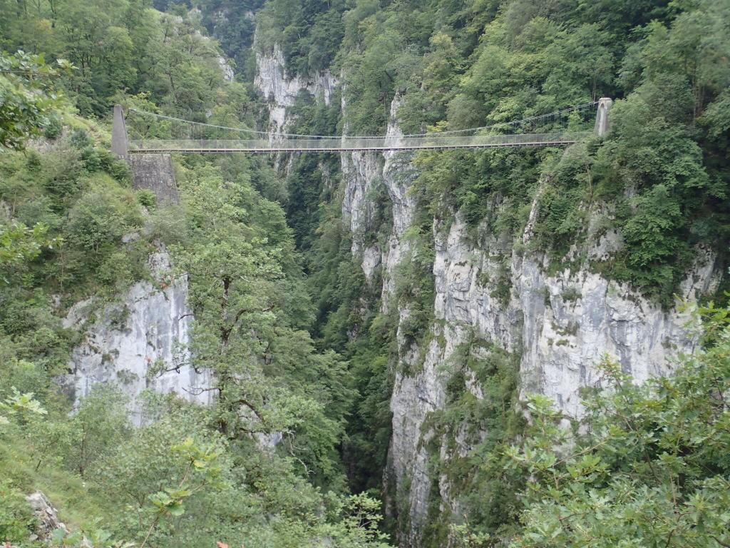 Suspension 150m above the river.