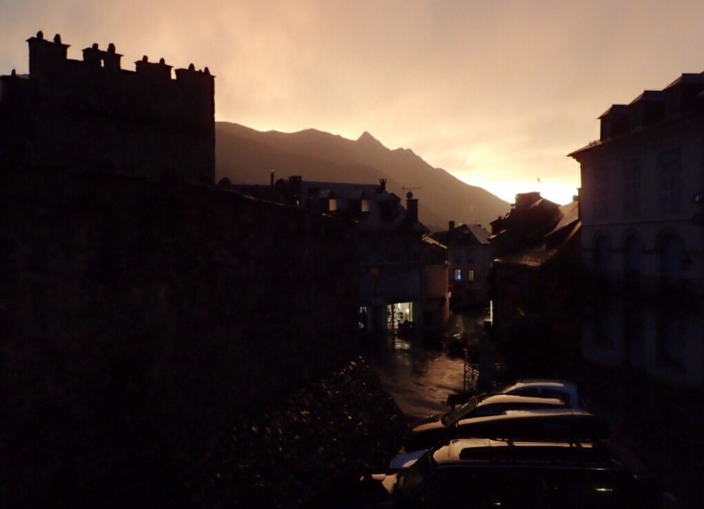Late evening sky in Luz St. Sauveur after the thunderstorm.