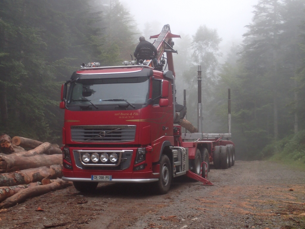 Logging trucks in France are a lot like the trucks at home.