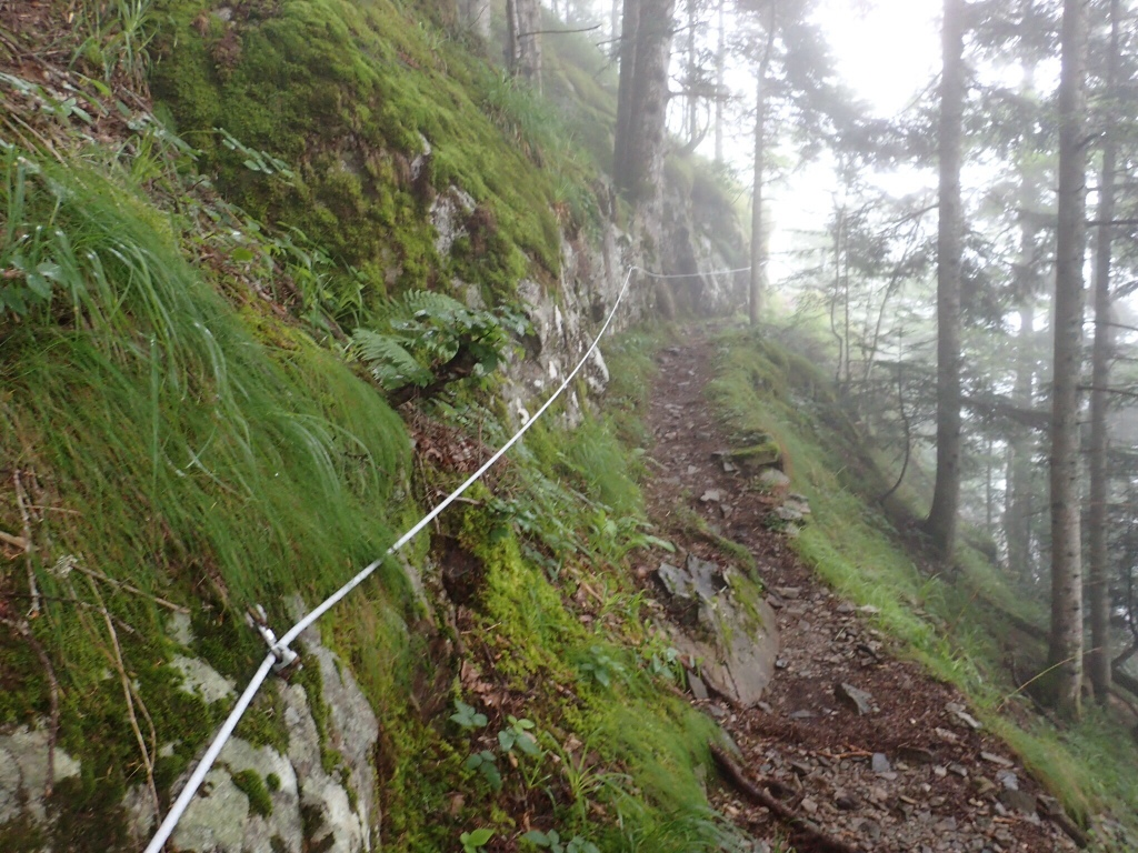 Cable leading to the narrow ledge. I was busy hanging on to the cable at the narrow point; no photos there. :-)