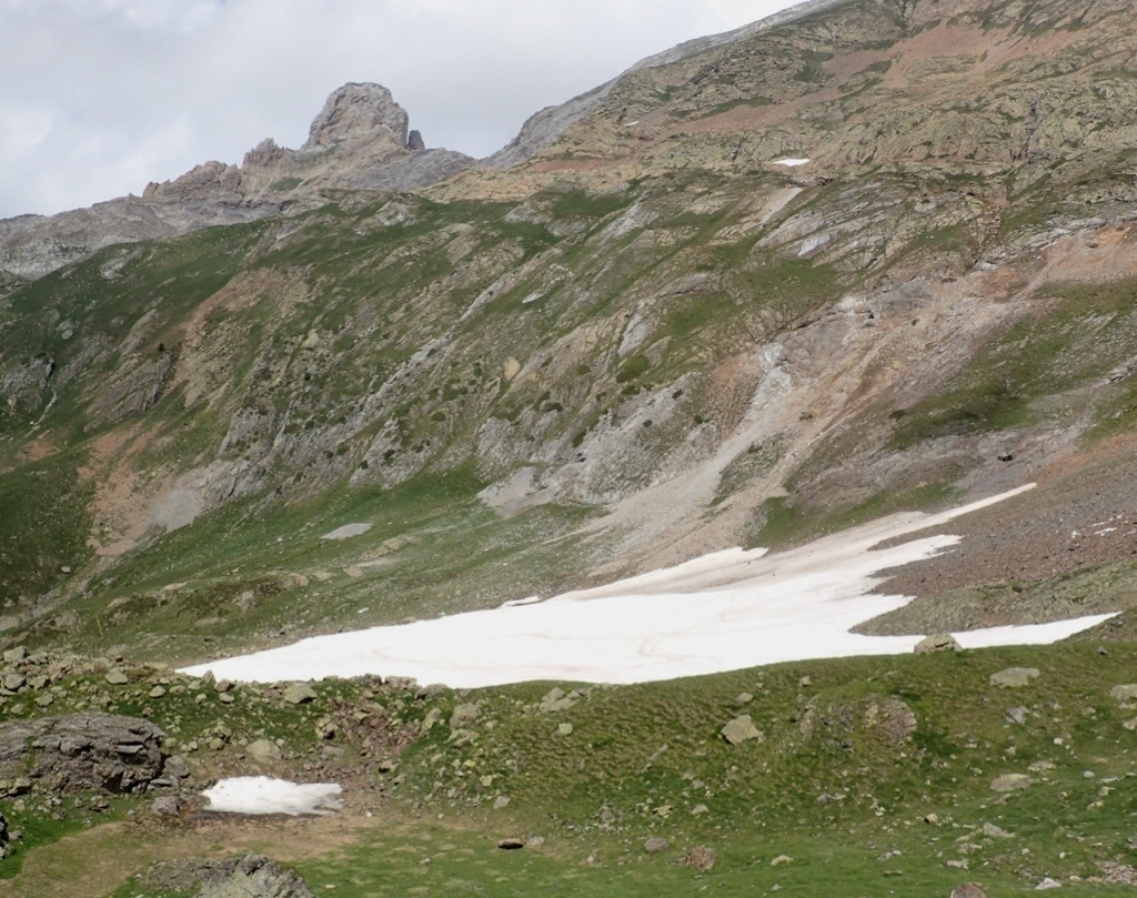 Large snowfield.
