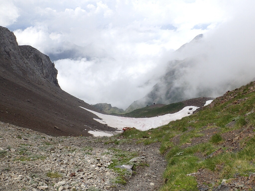 View from the col.