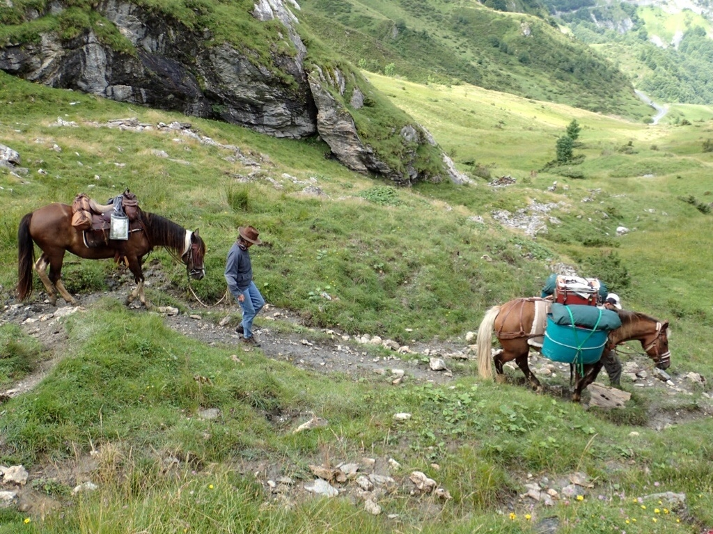 Doing the GR10 with horses.