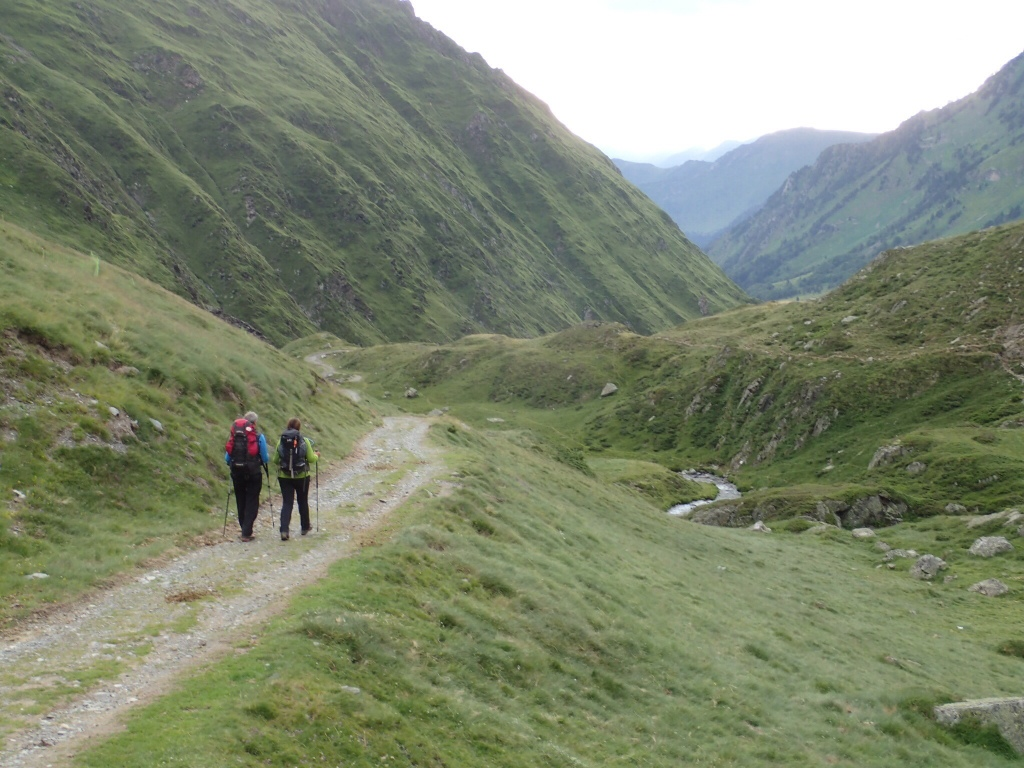 The walk down to Cauterets, partly on the track and then on a trail.