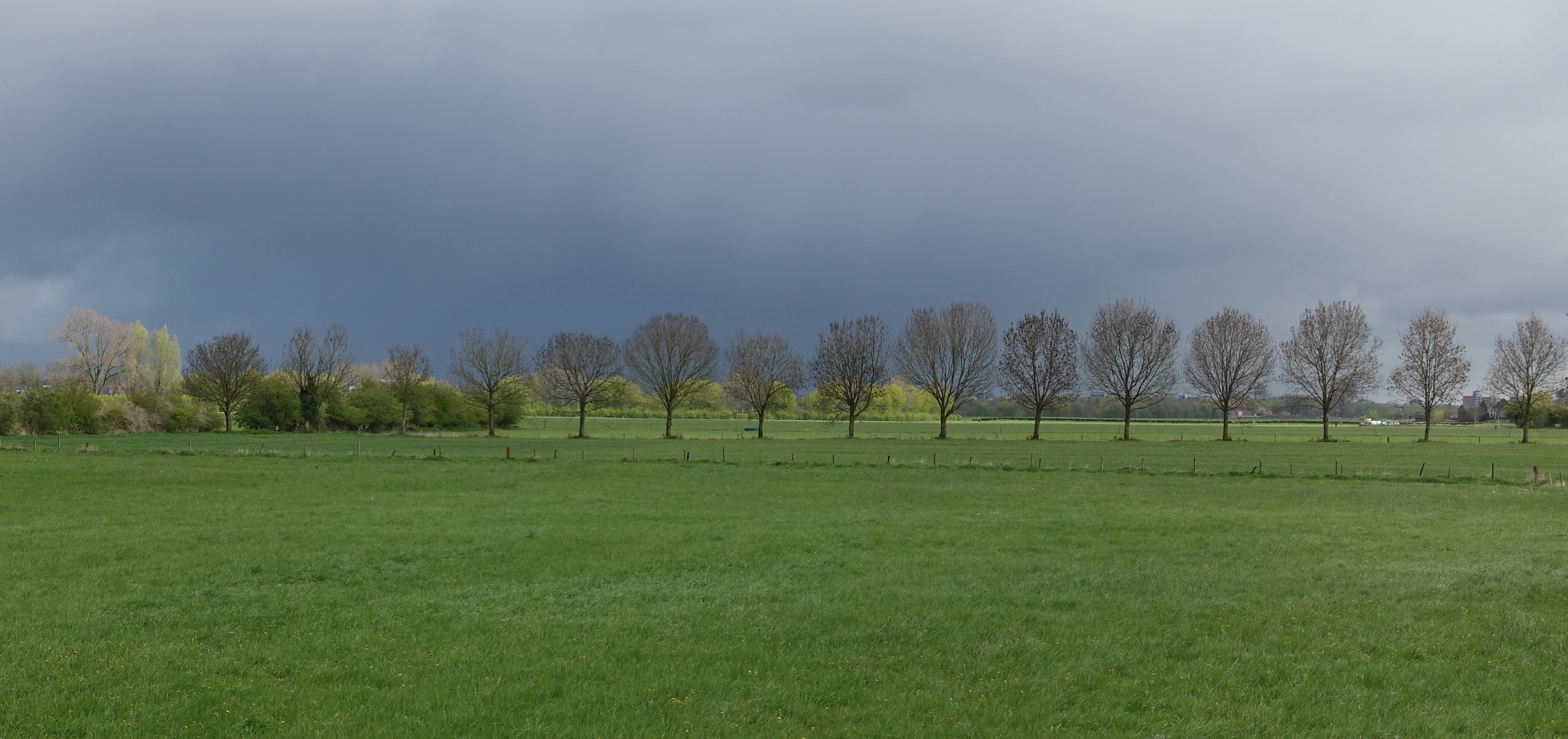 Dark skies. I love the blue and green contrast